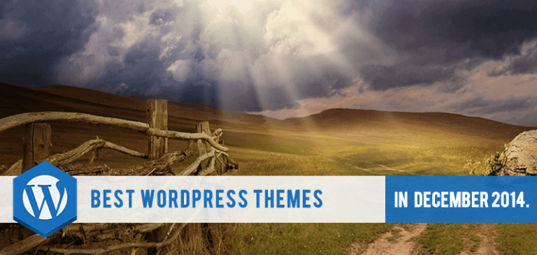 30+ Best WordPress themes (FREE & PREMIUM) released in December 2014.