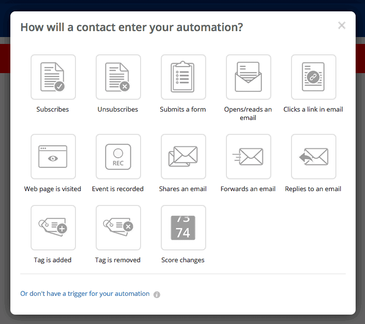 Active Campaign - Entering Automation