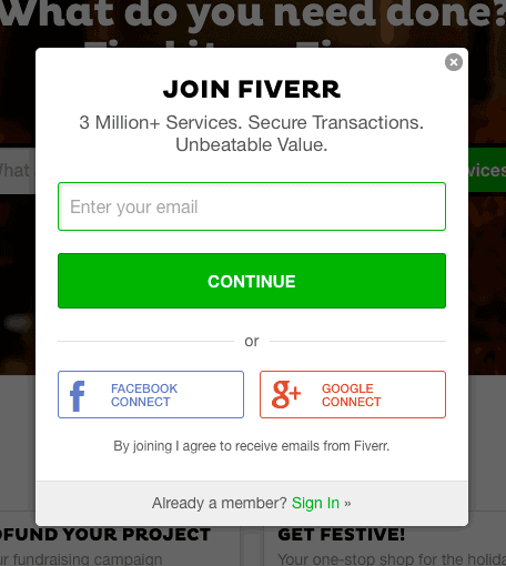 Fiverr-join-options