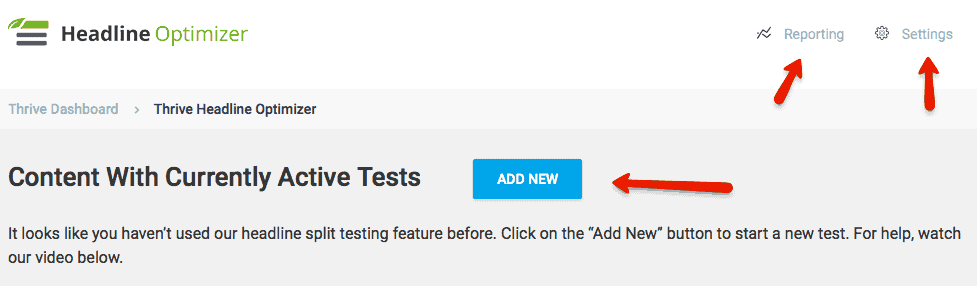 Thrive Headline Optimizer - Add new test