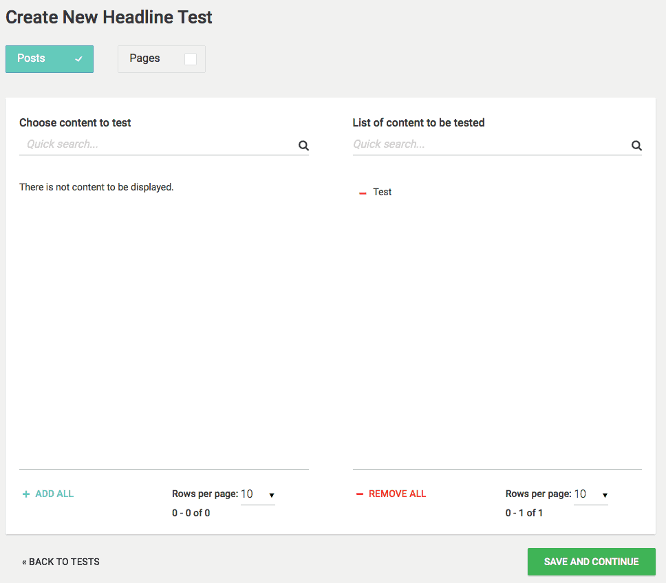 Thrive Headline Optimizer - Choose Posts and Pages