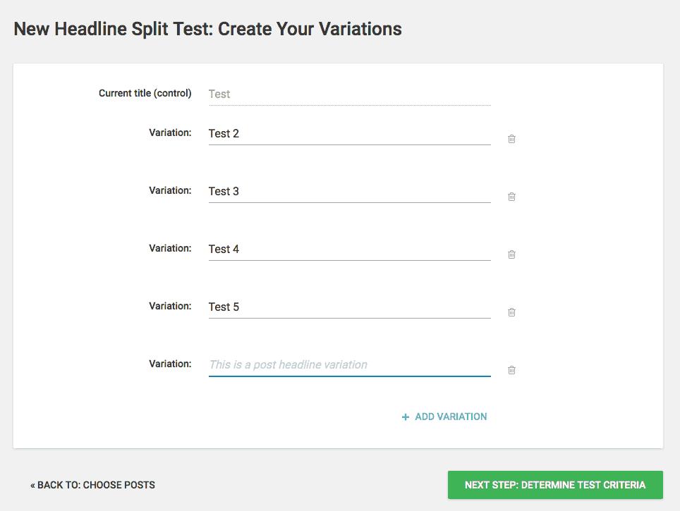 Thrive Headline Optimizer - Variations