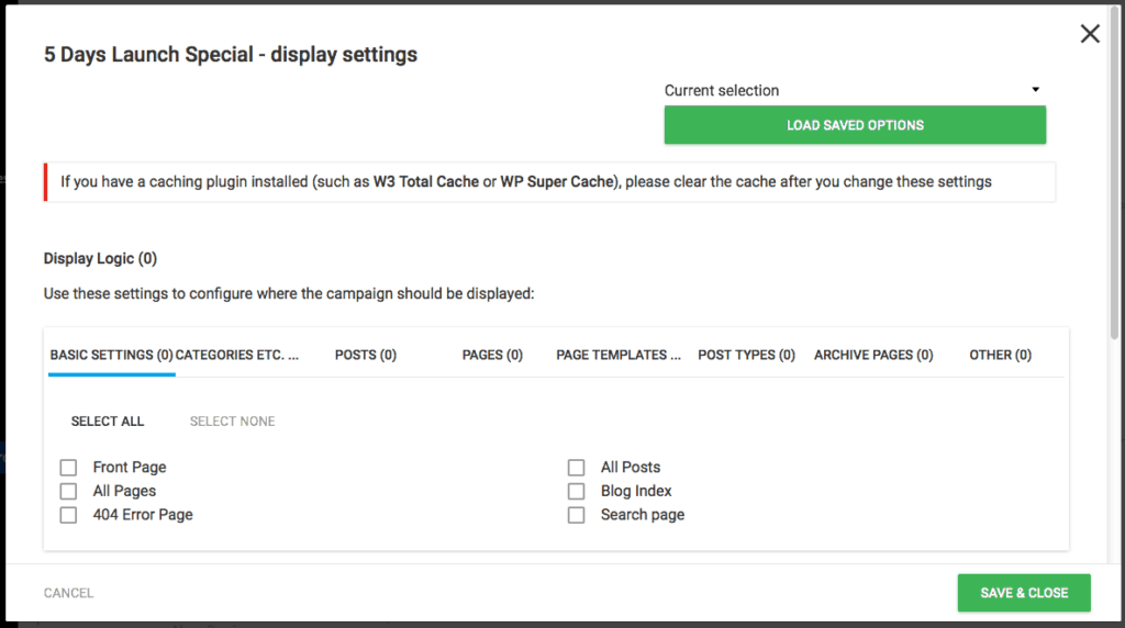 Thrive-Ultimatum-Display-Targeting-Settings