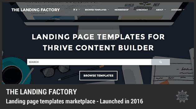 The Landing Factory – Landing Page Templates Marketplace