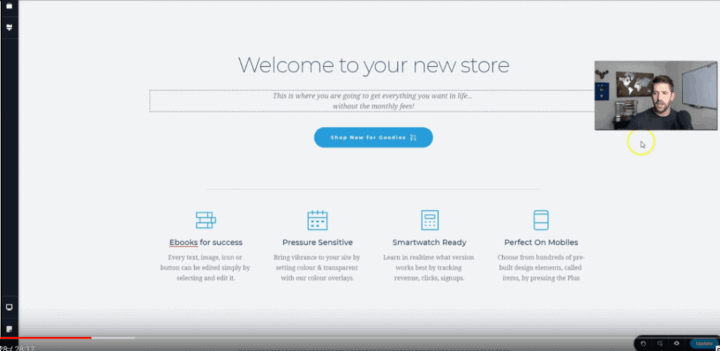 Brizy Home Page for Ecommerce Site