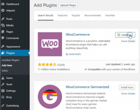 Installing WooCommerce for Ecom Store