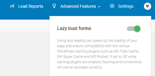 Lazy Load Thrive Leads Bluehost site speed