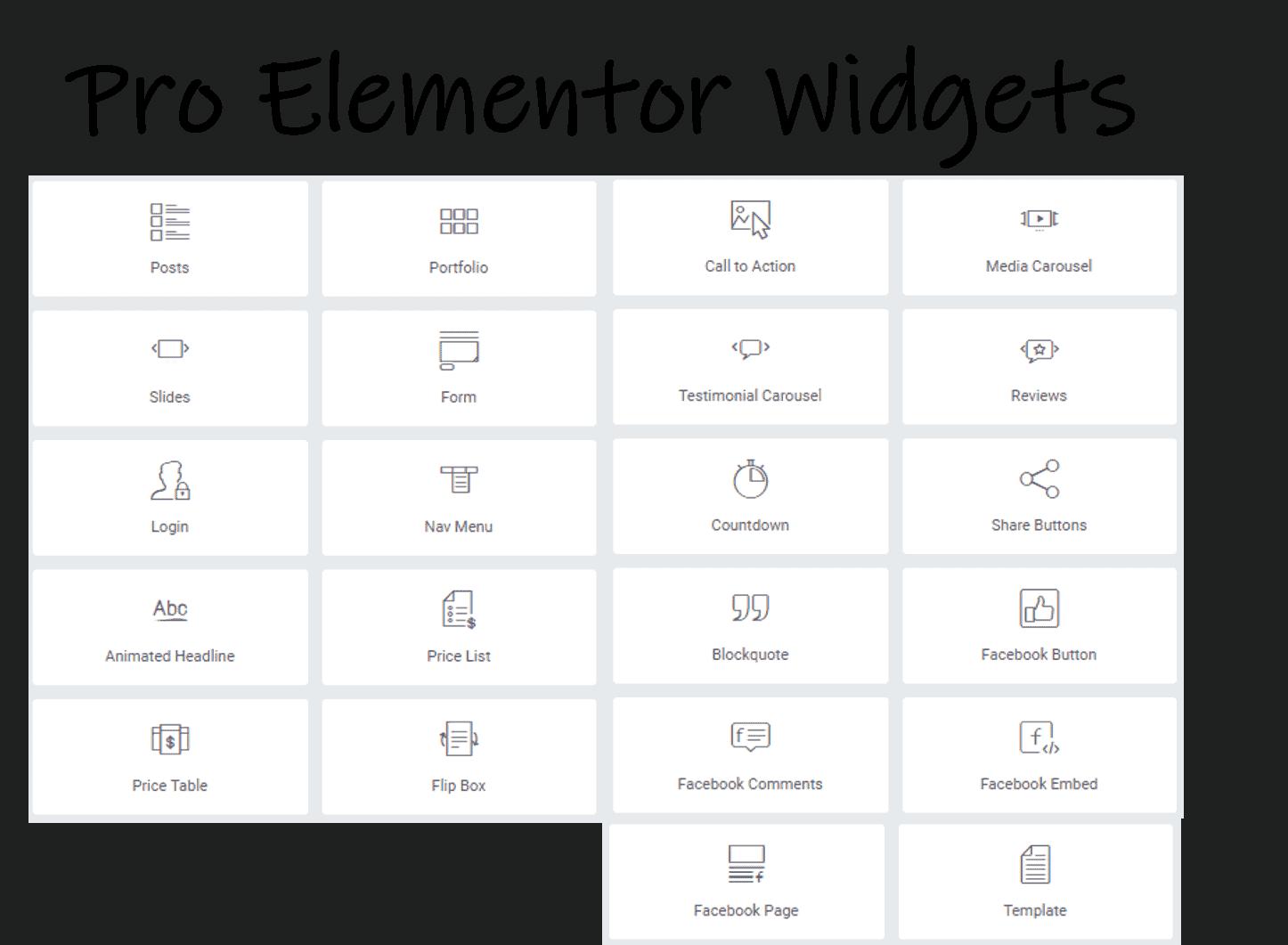 Elementor Pro Widgets