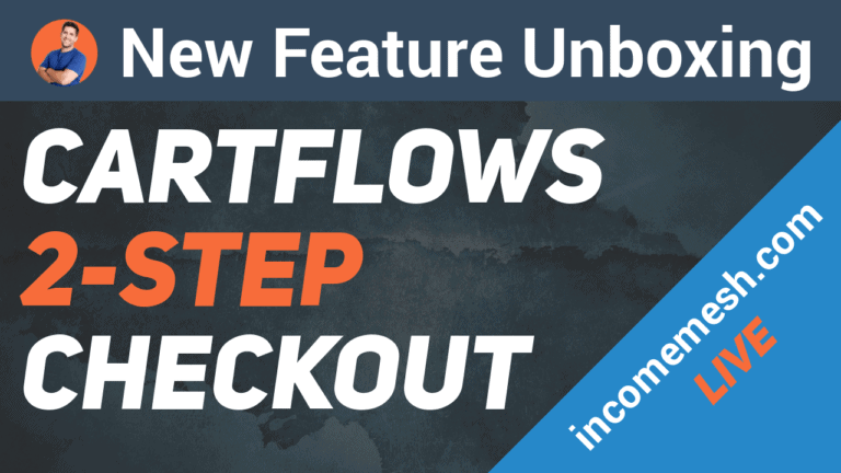 First Look at Cartflows 2 step checkout feature