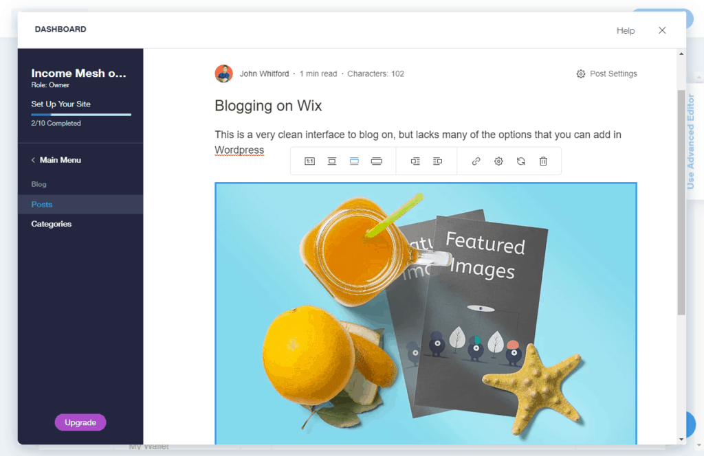Blogging on Wix vs WordPress