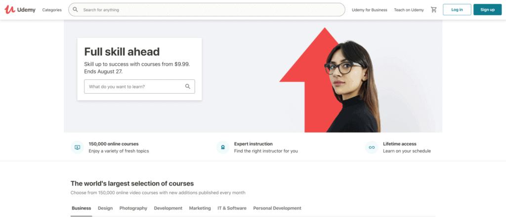 Udemy Online Course Website