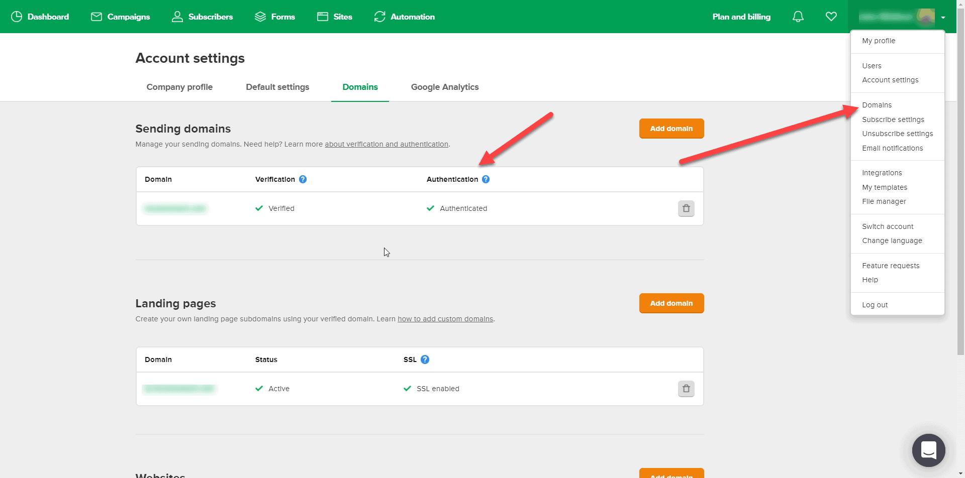Email deliverability verify domains